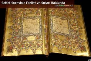Saffat Suresi'nin Fazilet ve Sırları